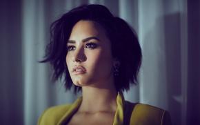 Обои брюнетка, певица, Demi Lovato, Деми Ловато