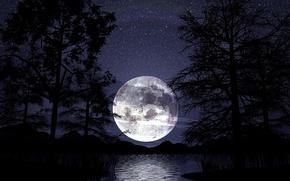 Обои луна, ночь