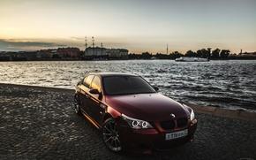Картинка машина, авто, река, BMW, auto, смотра, E60, Smotra, Эрик Давидыч