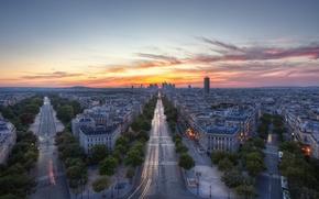 Картинка город, париж, HDR, выдержка, франция