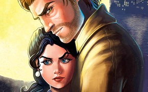 Картинка взгляд, пара, Snow White, The Wolf Among Us, Bigby, fables, Fabletown
