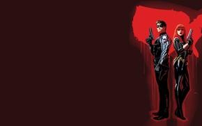 Картинка Black Widow, Черная Вдова, Наташа, Winter Soldier, Bucky Barnes, Зимний солдат, Баки Барнс