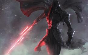 Картинка Звездные войны, Световой меч, Арт, темная сторона