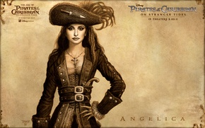 Обои disney, арт, пираты карибского моря, на странных берегах, pirates of the caribbean, пенелопа круз, on ...