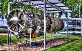 Картинка Музей, Jet engine, Реактивный двигатель
