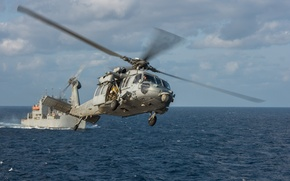 Картинка полет, вертолёт, многоцелевой, «Си Хок», Sea Hawk, MH-60S