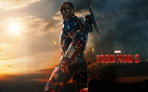 Картинка iron man 3, Don Cheadle, War Machine, James Rhodes