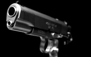 Обои макро, пистолет, оружие