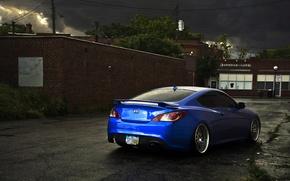 Картинка синий, тюнинг, Hyundai, Coupe, blue, Genesis, хюндай