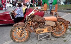 Картинка лето, город, Мотоцикл