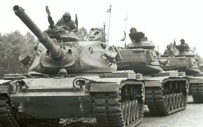 Картинка солдаты, Танк, америкосы, танкеры