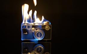 Обои фон, камера, огонь