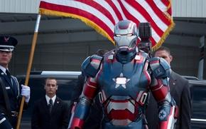 Обои железный человек, железный патриот, Iron man 3, Железный человек 3, капитан америка, кадр со съемок