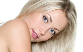 Картинка лицо, девушка фото, блондинка обои, голубоглазая картинки