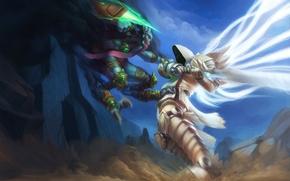 Картинка starcraft, diablo, archangel, Zeratul, Tyrael, Heroes of the Storm, Archangel of Justice