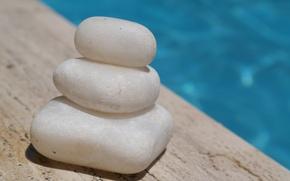 Картинка галька, бассейн, камушки, гладкие