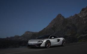 Картинка McLaren, серебристый, silver, суперкар, supercar, макларен, 570GT