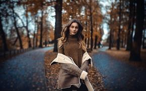 Картинка осень, девушка, ☁ ☂ ☁, A state of mind
