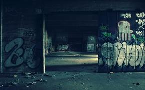Картинка стена, граффити, недострой