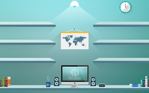 Картинка mac, design, полки, flat, fred-design