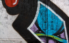 Картинка colorful, graffiti, painted, metal door, handle