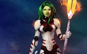 Картинка assassin, Marvel Comics, Стражи Галактики, Guardians of the Galaxy, Gamora