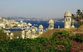 Картинка Istanbul, Turkey, Турция, панорама, Стамбул
