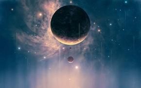 Обои Планеты, Planets, Stars, Space, Spacecrafts, Космические Корабли