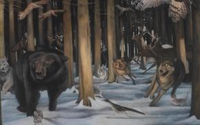 Картинка картина, норвежский художник, Christer Karlstad, Allseeing (Comeback)