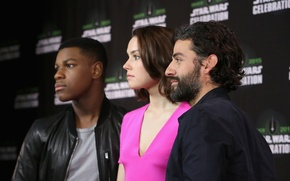 Картинка Oscar Isaac, Daisy Ridley, John Boyega, Star Wars Celebration