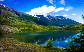 Обои Аргентина, озеро, Patagonia, горы, облака