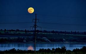 Обои луна, Пейзаж, ночь