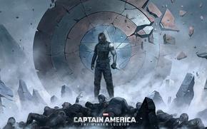 Картинка Captain America: The Winter Soldier, winter soldier, bucky barnes, первый мститель: Другая война