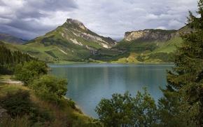 Картинка Альпы, горы, Франция, France, озеро, Alps, Savoie, озеро Розеленд, Roselend Lake, Савойя
