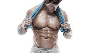 Обои abs, arms, workout, towel, muscles