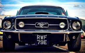 Картинка Mustang, Ford, emblem, front, badge, bumper