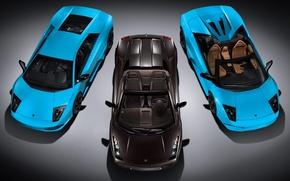 Обои авто, 3 ламборджини, Lamborghini