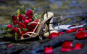Обои цветы, романтика, розы, букет, rose, свадьба, flowers, beautiful, cool, bouquet, roses, nice, wedding, romance