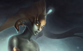 Картинка девушка, фентези, игра, арт, Dota2, Naga, Siren, Дота2
