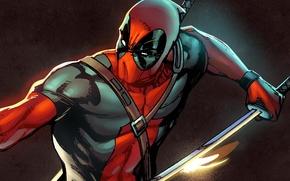 Картинка marvel, дэдпул, deadpool, антигерой, Marvel Heroes, коллекционная карточка steam