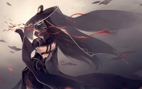 Картинка девушка, оружие, черная одежда