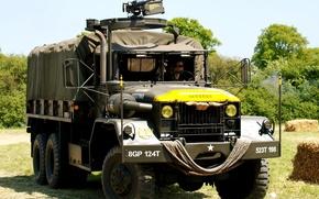 Картинка автомобиль, американский, Truck, грузовой, полноприводный, Cargo, колёсной формулы 6×6, пятитонный, 5 ton, M939, 6x6 M939