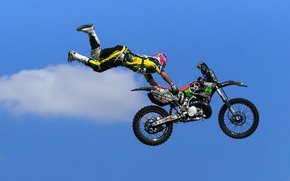 Обои спорт, мотоцикл, прыжок