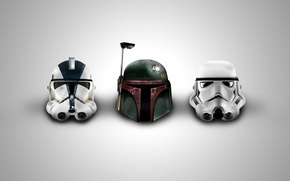 Обои Star Wars, иконки, шлемы