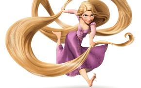 Картинка девушка, волосы, рапунцель