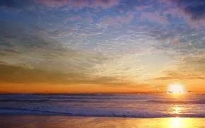 Обои небо, волны, песок
