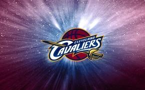 Картинка Баскетбол, Фон, Логотип, NBA, Кливленд, Кавалеры, Cleveland Cavalier