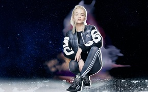 Обои костюм, фотосессия, Rita Ora, Originals, Adidas, одежда, блондинка, Рита Ора, бренд