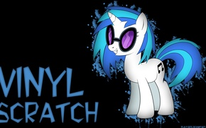 Обои Vinyl Scratch, friendship is magic, my little pony