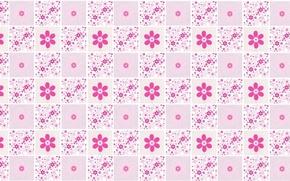 Картинка цветы, фон, текстура, арт, розовое, квадратик